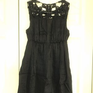 Max Studio Linen Lace Top Summer Dress Fully Lined